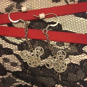 Mickey Mouse earrings filigree